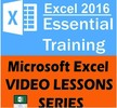 Thumbnail 2016 Microsoft Lessons Excel Training video PRO Tutorials